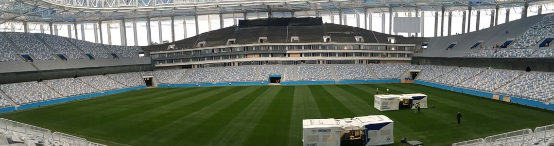 Grassmaster At The 2018 Football World Cup In Russia Detail