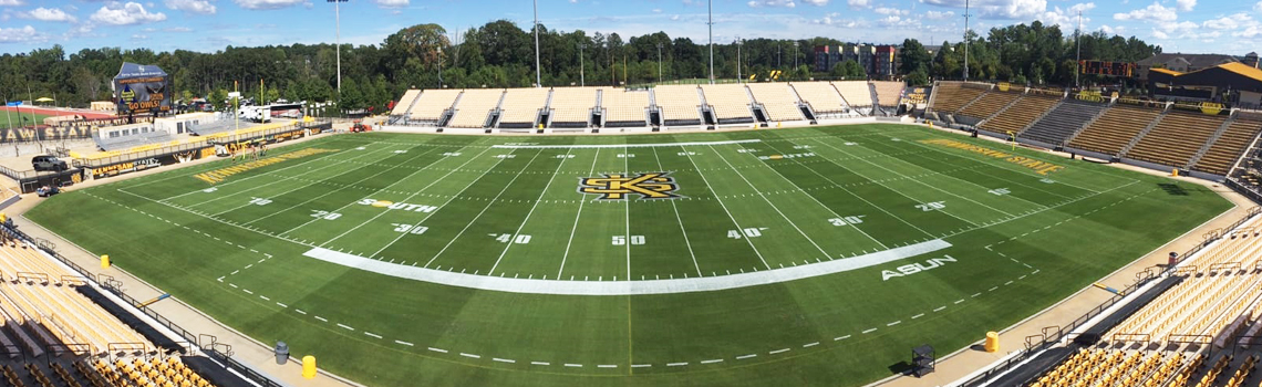 Kennesaw state installs first hybrid grass field in the United States